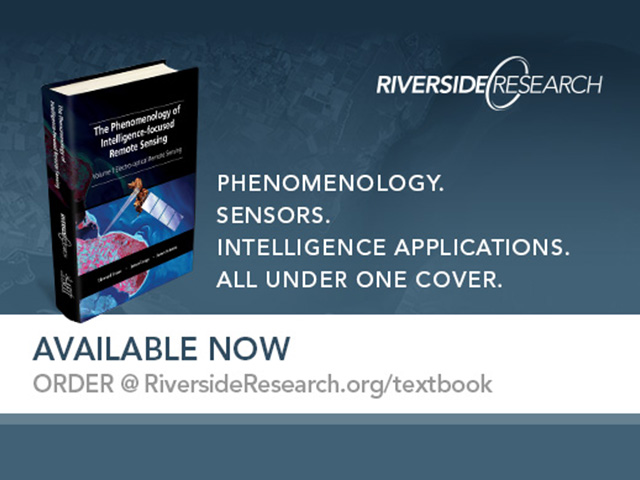 Riverside Research-authored Remote Sensing Textbook on Sale Now