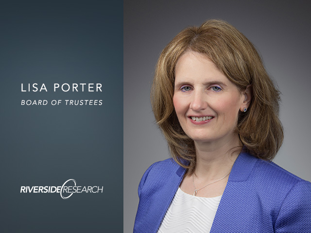 Riverside Research Board of Trustee Member, Dr. Lisa Porter