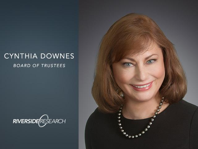 Riverside Research Welcomes New Trustee, Cynthia Downes