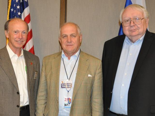 Photo: (L to R) Dr. William Dunlop, senior physicist at Lawrence Livermore National Laboratory; Konstantin Danilenko, First Deputy Director, All-Russia Research Institute of Automatics; Larry Turnbull, Senior Technical Expert at Riverside Research