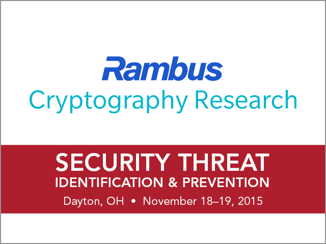 Rambus Cryptography Research and Riverside Research to Co-host Workshop on Identifying and Preventing Advanced Security Threats